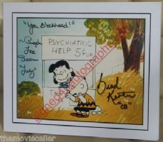 "BRAD KESTEN SIGNED ""CHARLIE BROWN"" ANGELA LEE SLOAN SIGNED   MATTED"